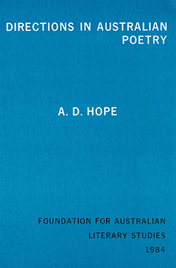 View FALS: Directions in Australian Poetry by A D Hope