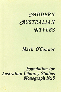 View FALS: Monograph No 8: Modern Australian Styles by Mark O'Connor